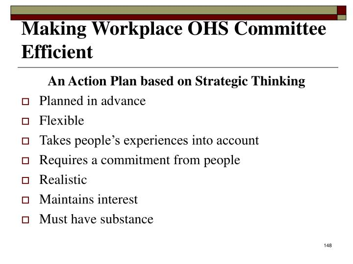 An Action Plan based on Strategic Thinking