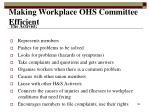 making workplace ohs committee efficient4