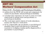 nwt nu workers compensation act