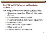 the nwt and nu safety acts and regulations continued2