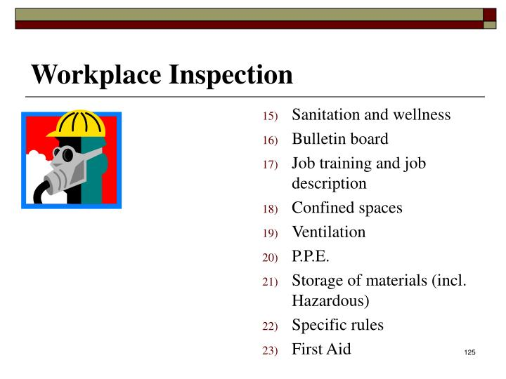 Workplace Inspection