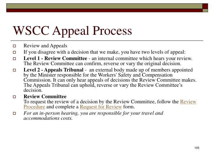 WSCC Appeal Process