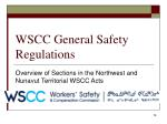 wscc general safety regulations