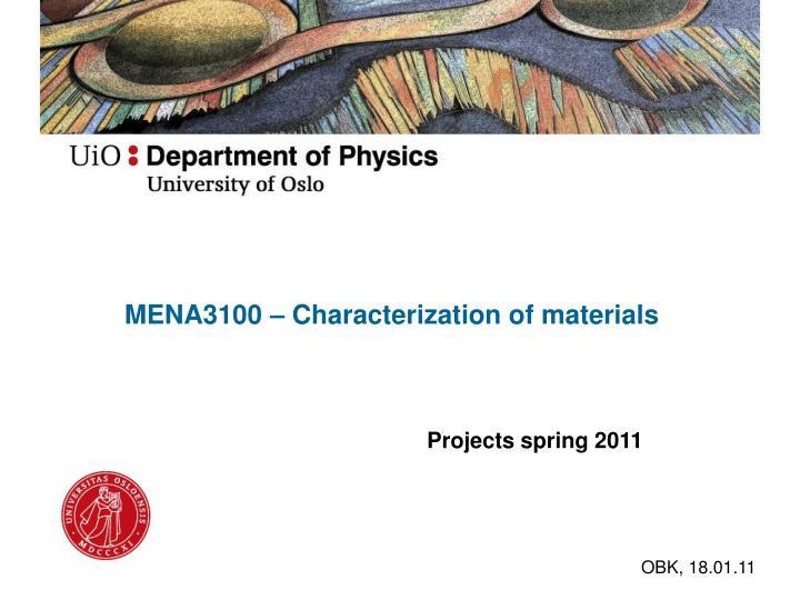 MENA3100 – Characterization of materials
