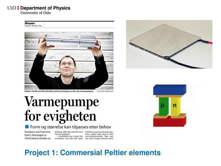 Project 1: Commersial Peltier elements