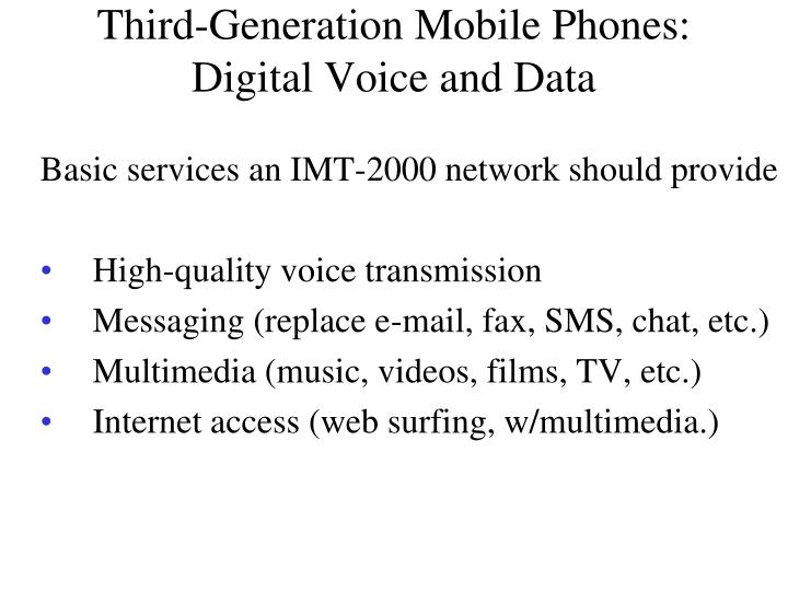 Third-Generation Mobile Phones: