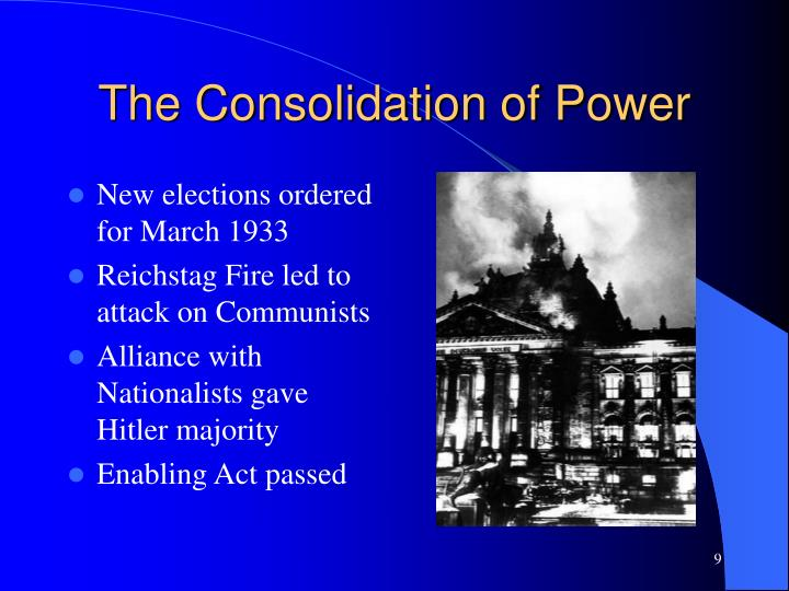The Consolidation of Power