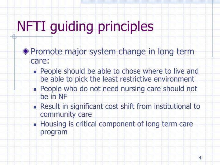 NFTI guiding principles