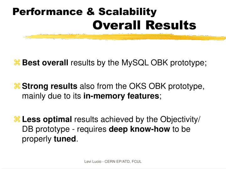 Performance & Scalability