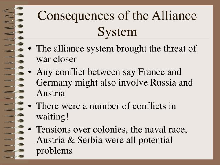 Consequences of the Alliance System