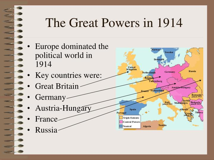 The Great Powers in 1914