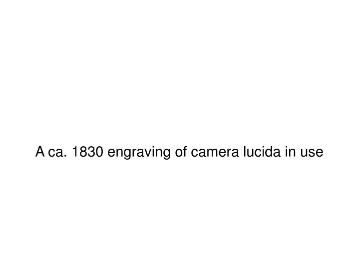 A ca. 1830 engraving of camera lucida in use