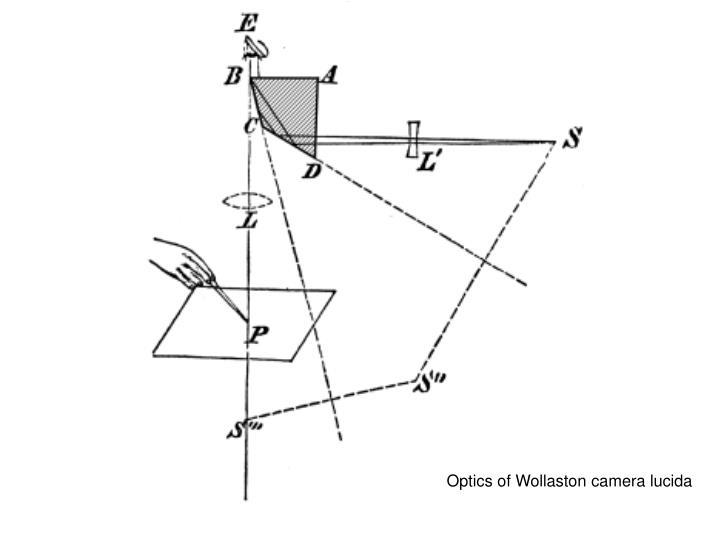 Optics of Wollaston camera lucida