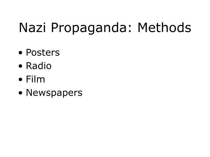 Nazi Propaganda: Methods
