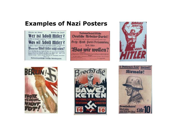 Examples of Nazi Posters