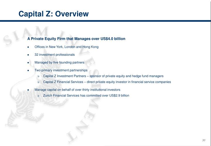 Capital Z: Overview