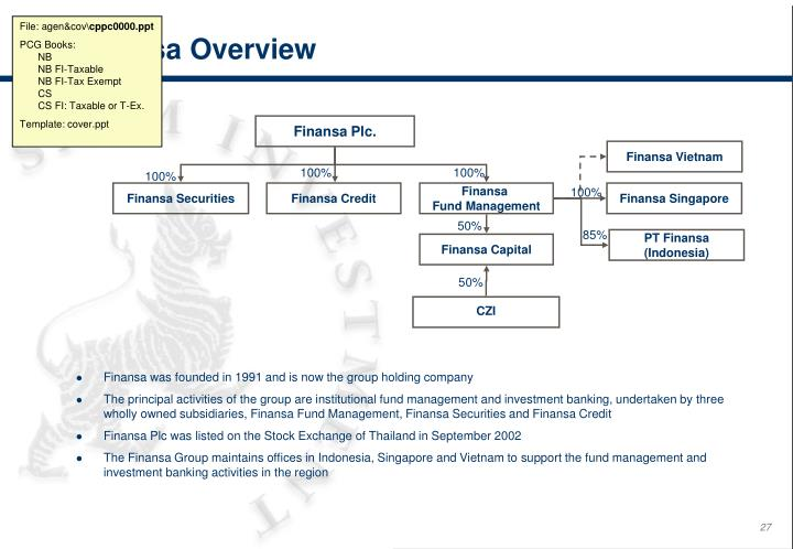 Finansa was founded in 1991 and is now the group holding company