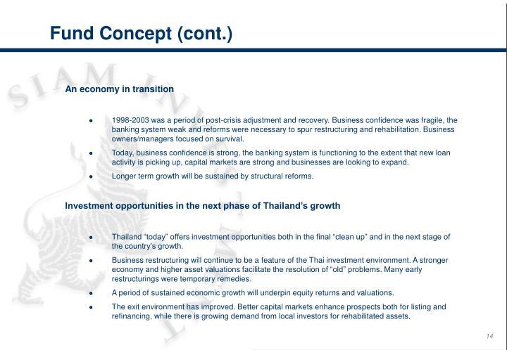 Fund Concept (cont.)