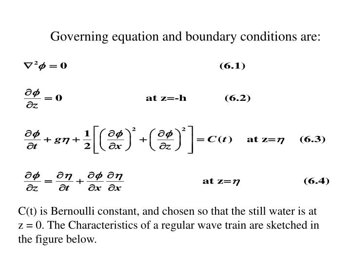 Governing equation and boundary conditions are: