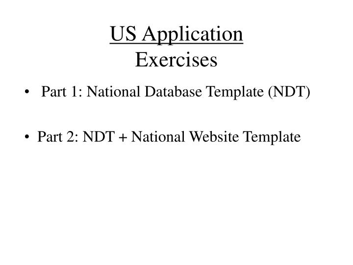us application exercises