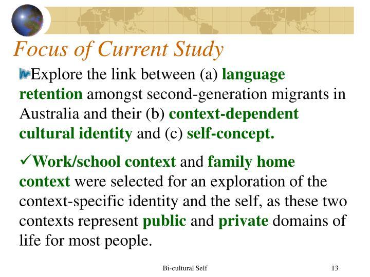 Focus of Current Study