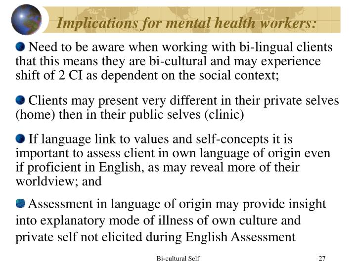 Implications for mental health workers: