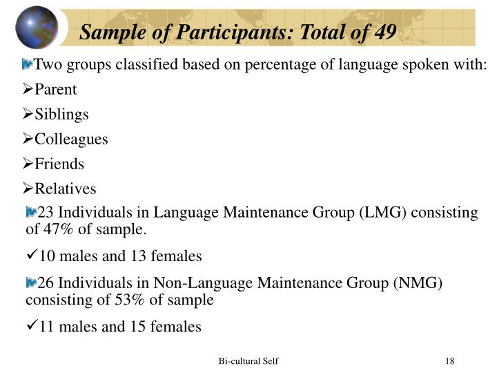 Sample of Participants: Total of 49