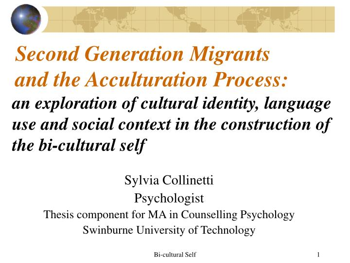second generation migrants and the acculturation process