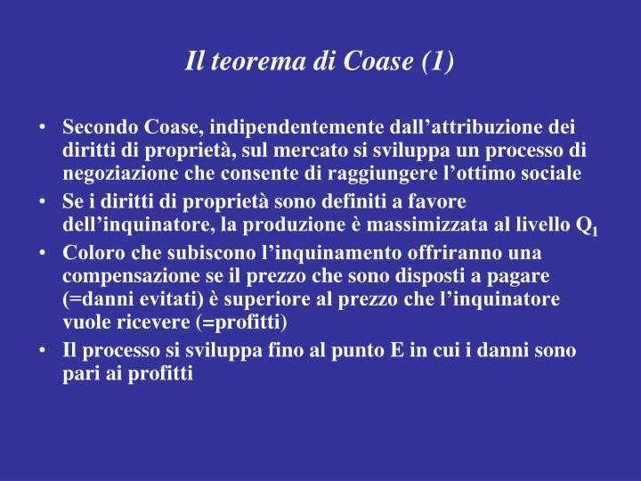 Il teorema di Coase (1)