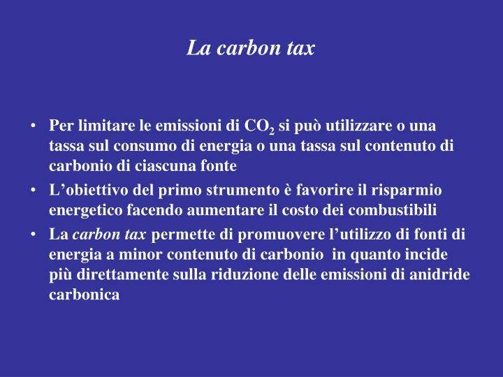 La carbon tax