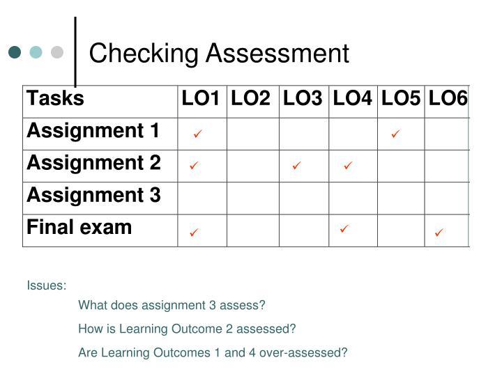 Checking Assessment