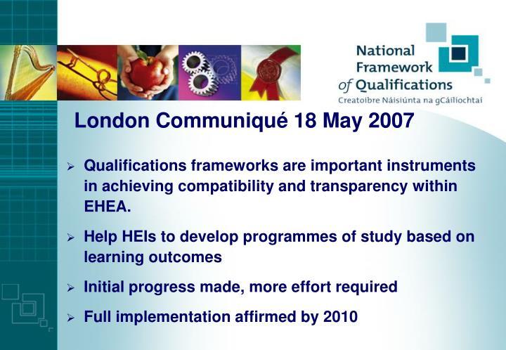London Communiqué 18 May 2007