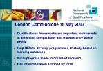 london communiqu 18 may 2007