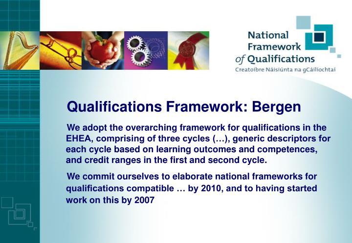 Qualifications Framework: Bergen
