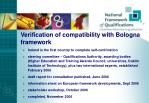 verification of compatibility with bologna framework