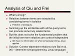 analysis of qiu and frei1