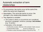 automatic extraction of term relationships