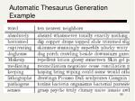 automatic thesaurus generation example
