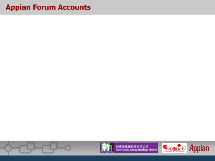 Appian Forum Accounts