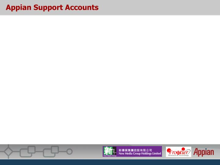 Appian Support Accounts