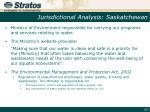 jurisdictional analysis saskatchewan