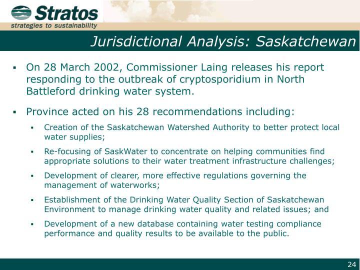 Jurisdictional Analysis: Saskatchewan