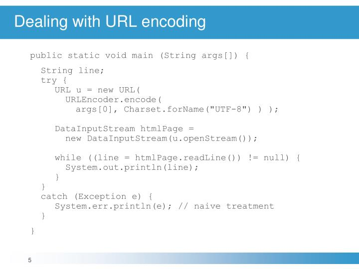 Dealing with URL encoding