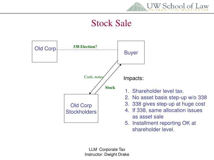 Stock Sale