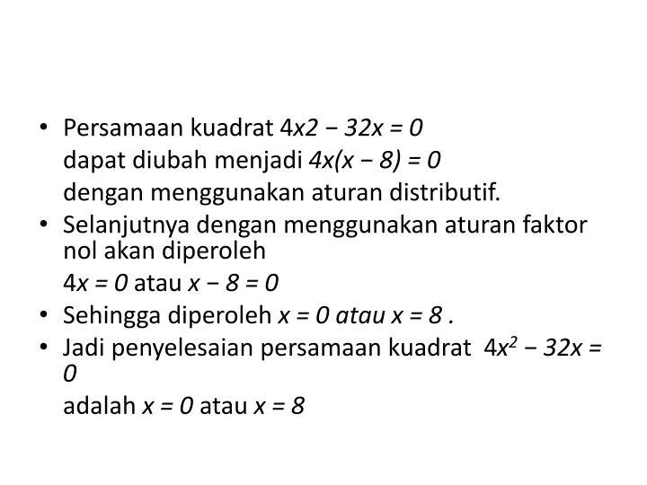 Persamaan kuadrat 4