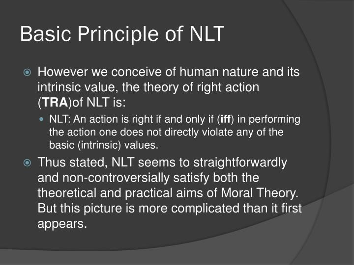 Basic Principle of NLT