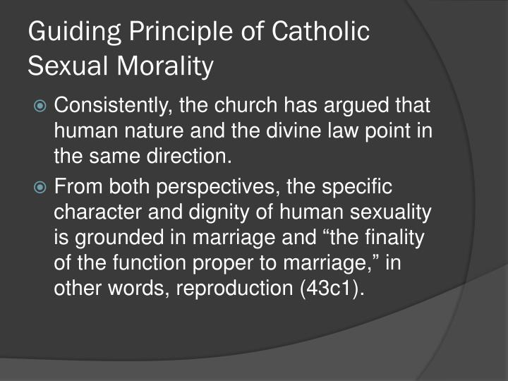 Guiding Principle of Catholic Sexual Morality