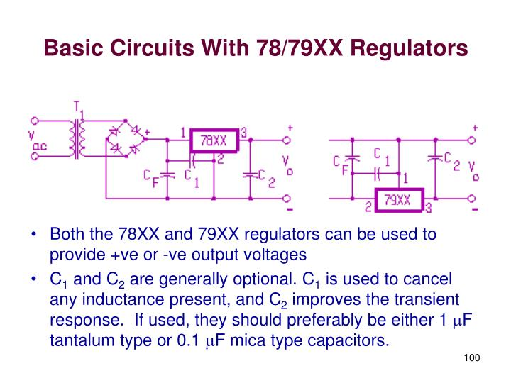 Basic Circuits With 78/79XX Regulators