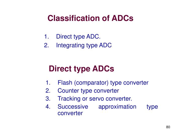 Classification of ADCs