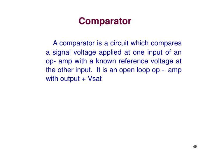 Comparator